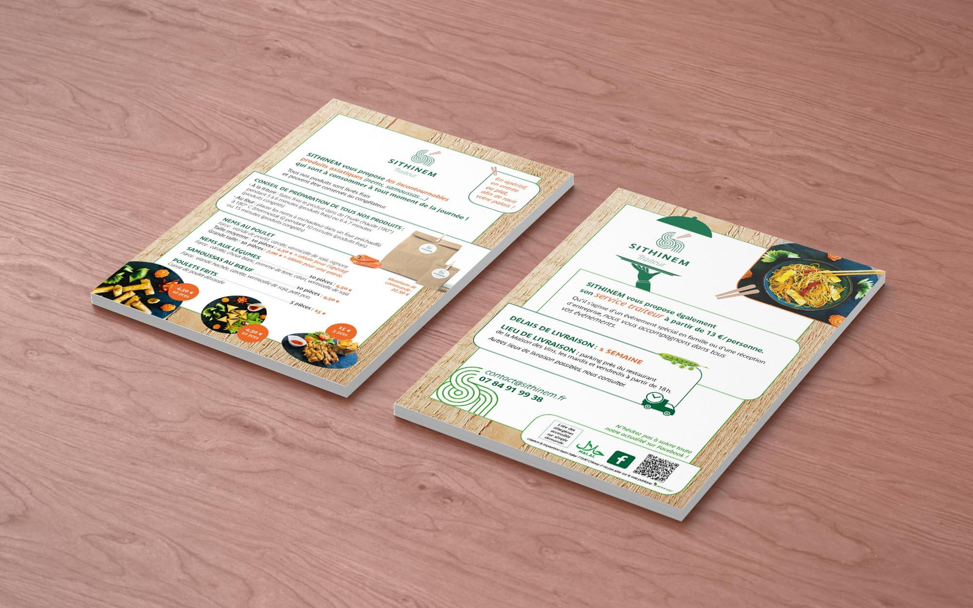 SITHINEM création et impression flyers BEZIN HALLER